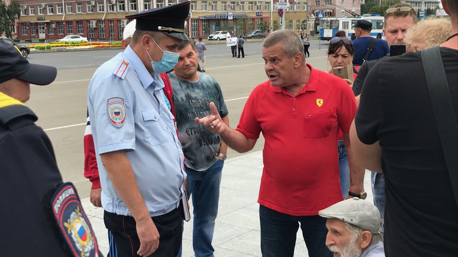 Акция в поддержку Хабаровска.