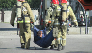 Учения по устранению аварии в Барнауле.