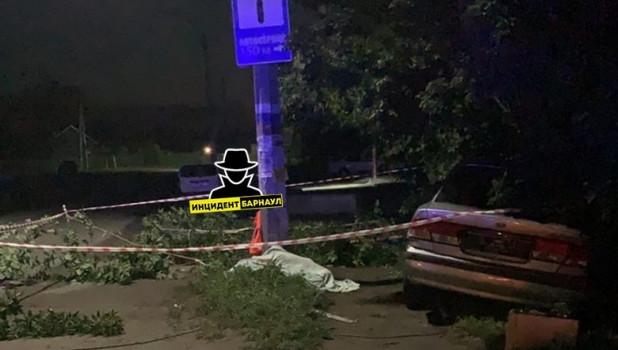Мальчик погиб в Новоалтайске в результате ДТП.