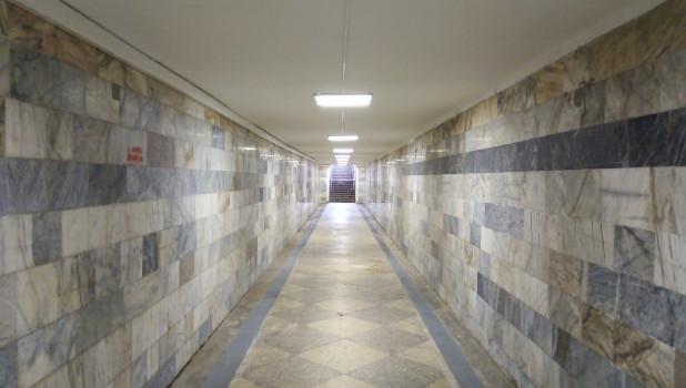 Тоннель. Барнаульский железнодорожный вокзал.