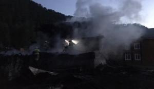 Пожар на турбазе в Алтайском крае.