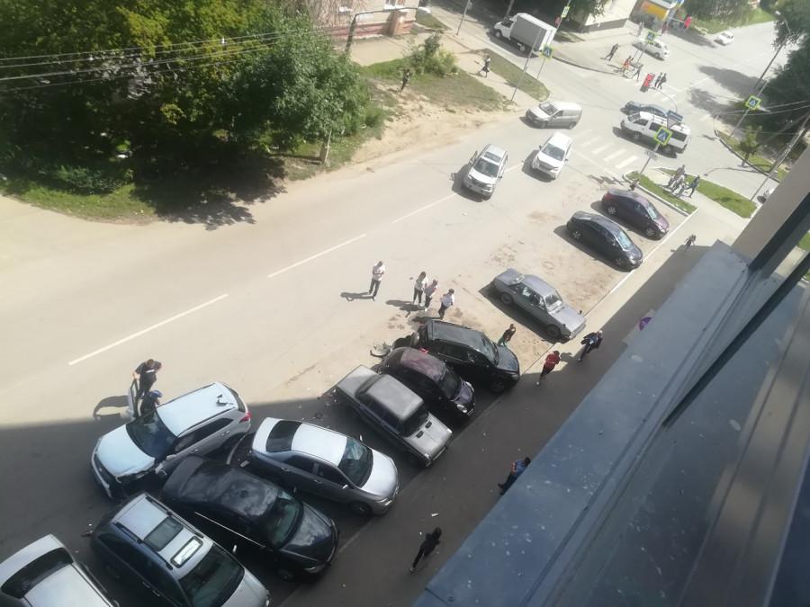 Массовое ДТП в Барнауле.