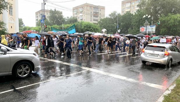 Как проходит митинг в поддержку Фургала в Хабаровске