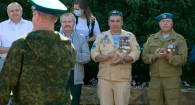 Церемония закладки сквера Десантников в Барнауле.