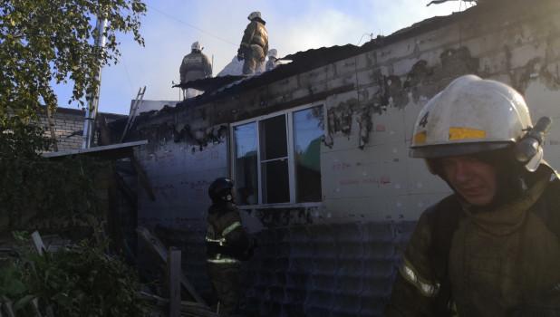 Крупный пожар в Гоньбе.