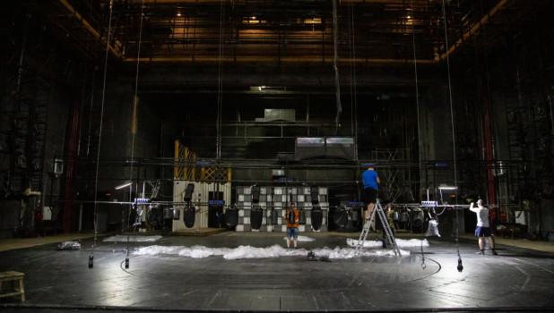Ремонт большого зала в театре драмы Барнаула