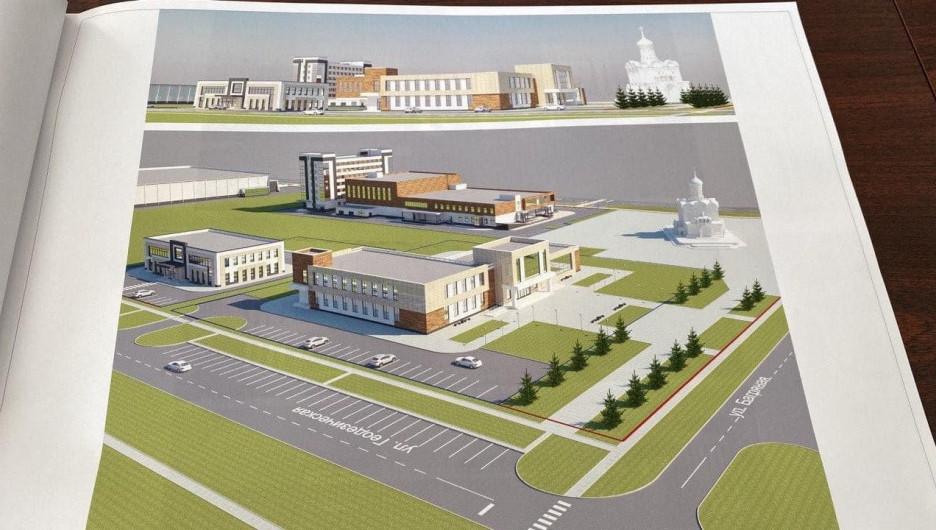 Новый спортивно-деловой квартал Барнаула.