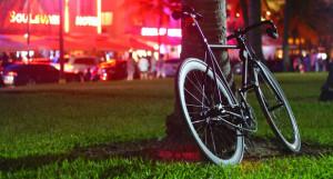 Ночь, велосипед