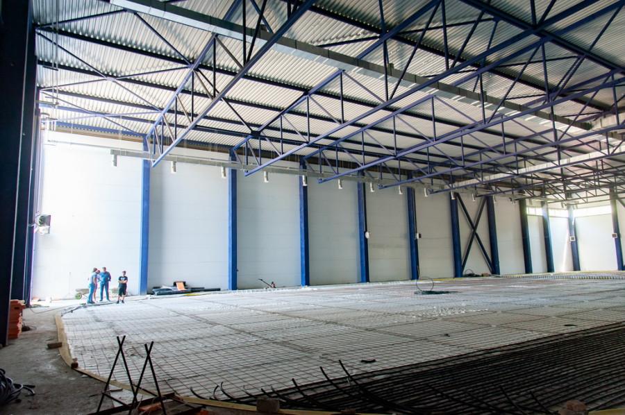 Строительство ледовой арены в Рубцовске.