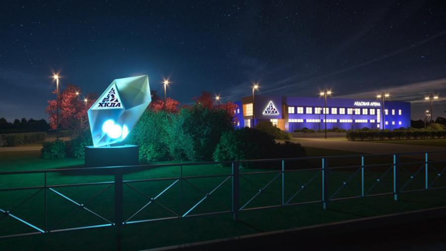 Проект благоустройства территории ледового дворца в Рубцовске.