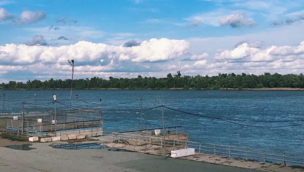 Речной порт Барнаула. Речной вокзал.