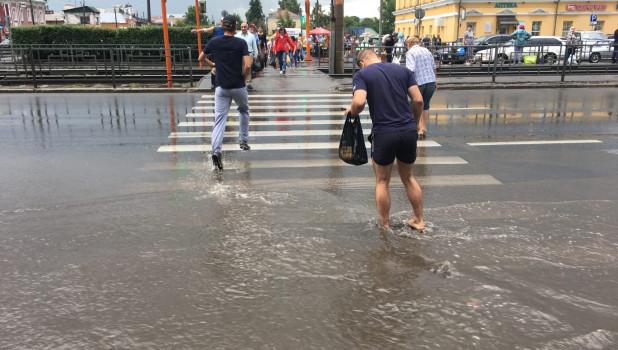 Ливень в Барнауле.