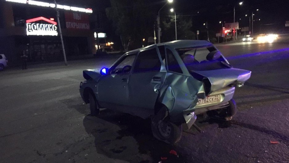Тройная авария в Бийске.