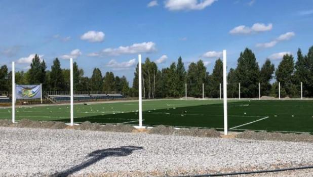 Футбольное поле в Заринске.