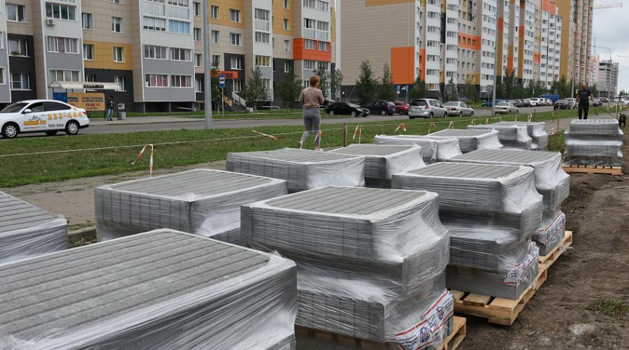 Благоустройство сквера на улице Ускова.