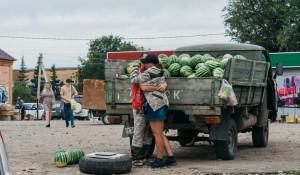 Рынок в селе Волчиха.