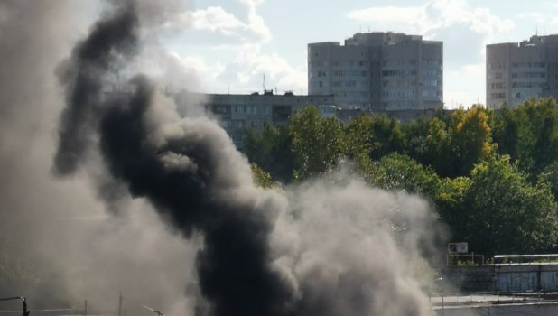 Пожар в Барнауле 29 августа 2020.