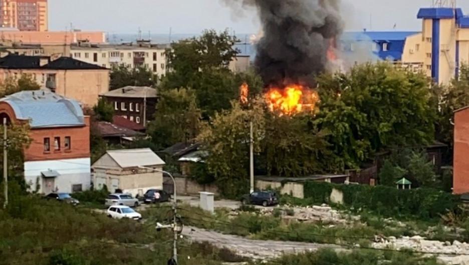 Пожар на улице Пролетарской.