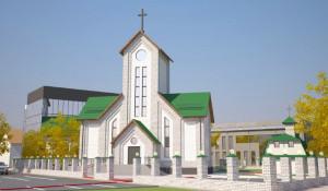 Молельный дом для баптистов в Барнауле. Проект.