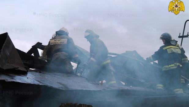 Пожар в Барнауле на улице Гоголя.