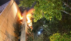 Пожар на балконах.
