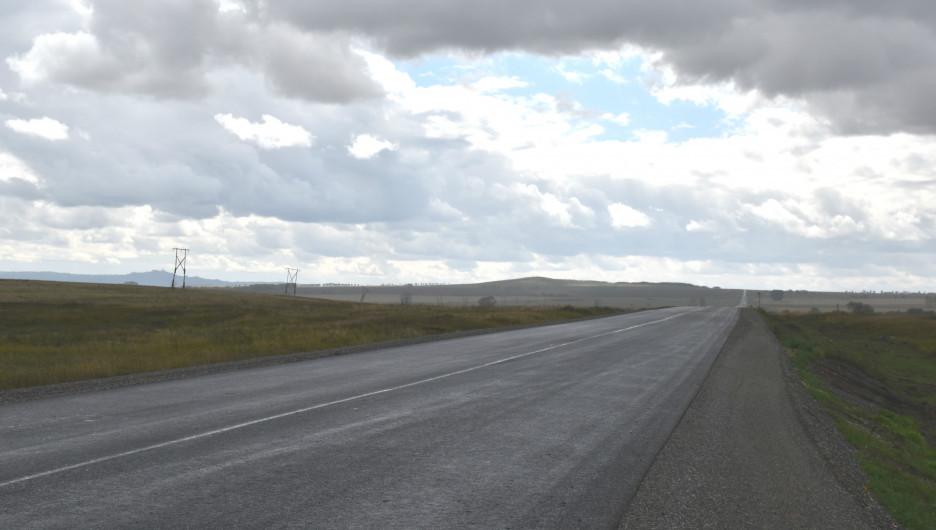 Ремонт дороги Поспелиха-Курья-Третьяково-граница Республики Казахстан.