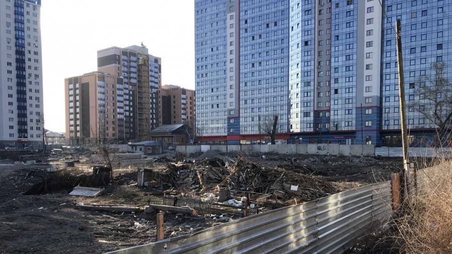 Так выглядела будущая строительная площадка на Пролетарской, 159 а весной 2020 года.