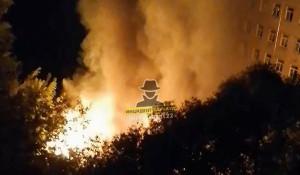Пожар на ул. Юрина в Барнауле 14 сентября 2020 года.