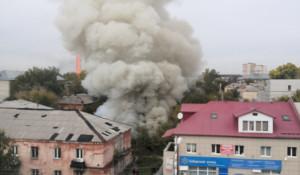 Пожар на ул. Петра Сухова.