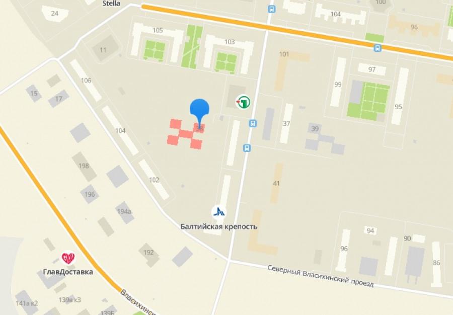 Расположение детского сада № 274.