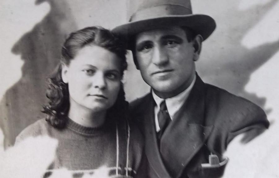 Антон и Александра Бавыкины поженились перед самой войной. 1941 г.