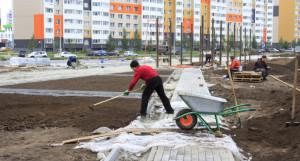 Благоустройство сквера на улице Сергея Ускова.