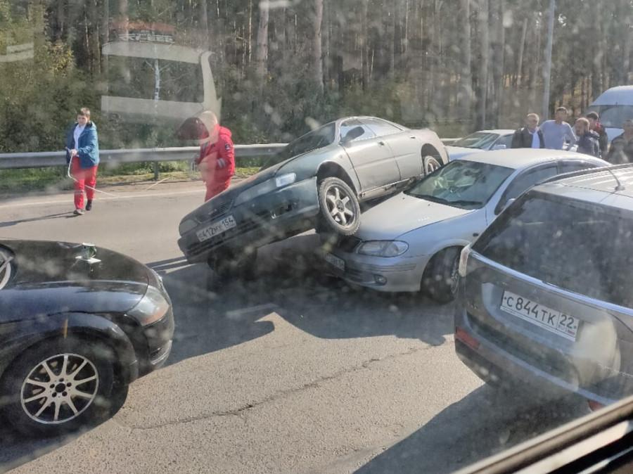 Аварии в Барнауле 20 сентября 2020 года.