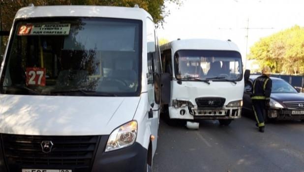 ДТП на ул. Попова в Барнауле 21 сентября.