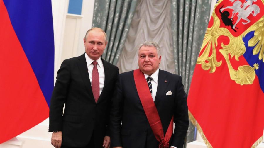 Владимир Путин и президент Курчатовского института Михаил Ковальчук.