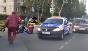 ДТП с ребенком на самокате в Барнауле.