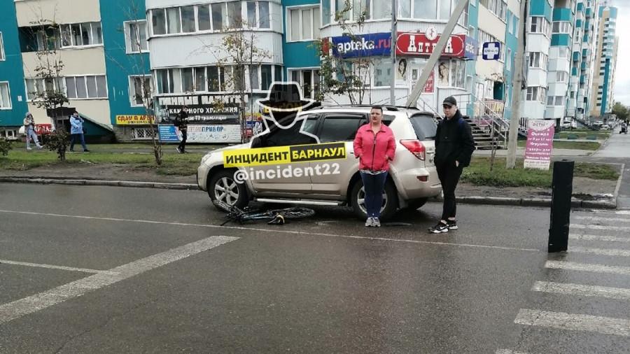 ДТП с велосипедистом на ул. Ускова.