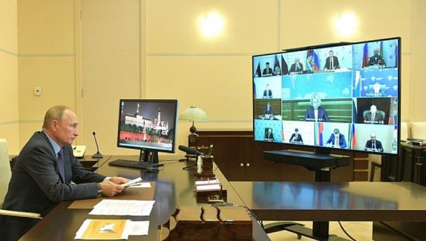 Совещание в режиме видеоконференции.