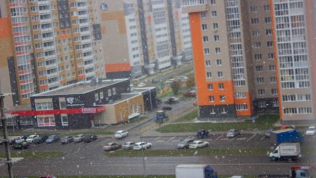 Первый снег в Барнауле, 7 октября 2020 года.