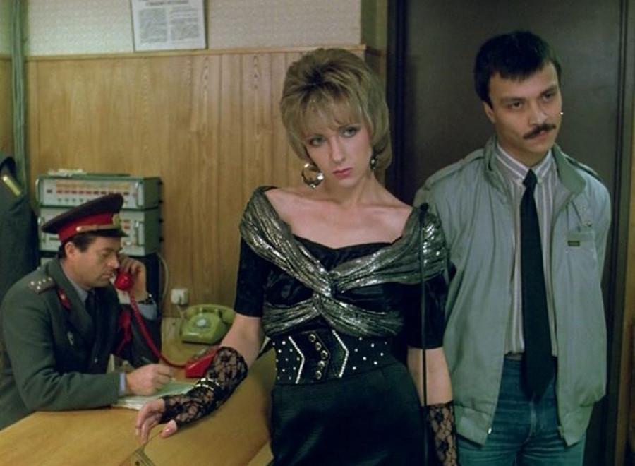 "Кадр из кинофильма ""Интердевочка"". 1989 год"