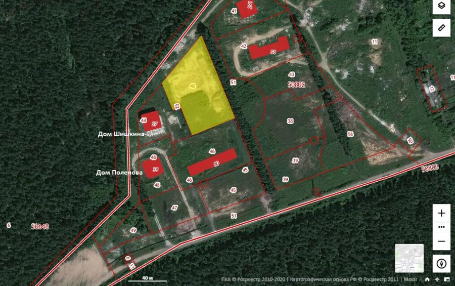 Желтым выделен участок, который будет сдан в аренду под жилую застройку.