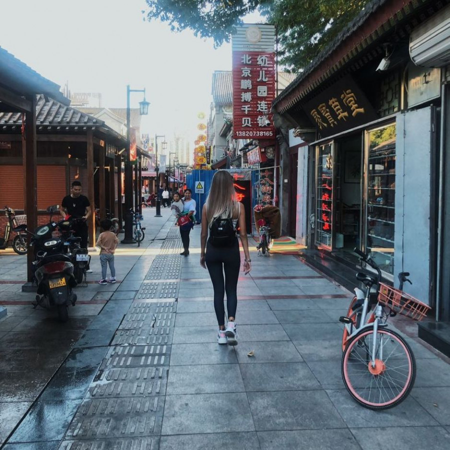 Алена Грачева в Китае.