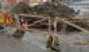 Траншея в Рубцовске.