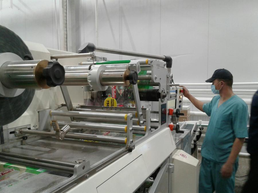 Новая фасовочная линия на макаронной фабрике.