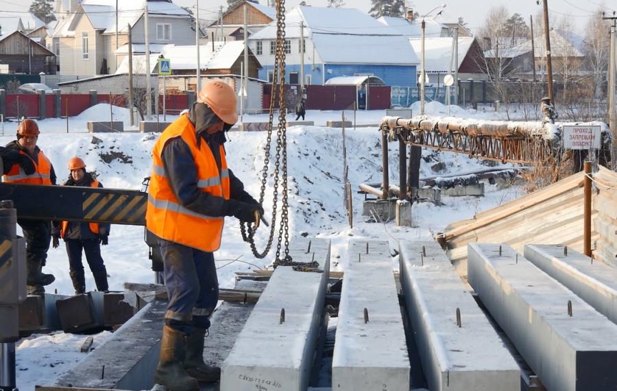 В Барнауле продолжается реконструкция моста в селе Власиха в рамках нацпроекта БКАД