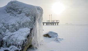 Обское море в ноябре.