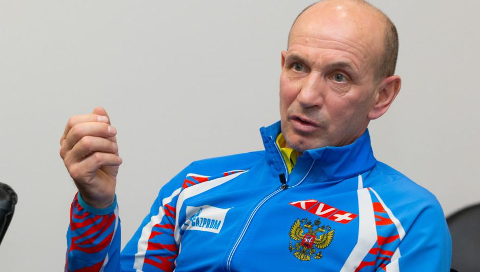Председатель Федерации биатлона Алтайского края Сергей Тарасов.