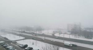 Барнаул во мгле.