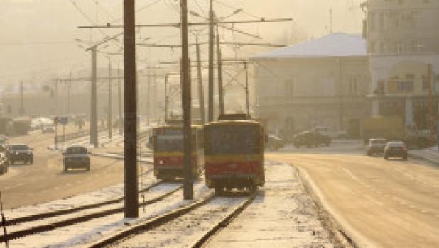 Зима пришла в Барнаул.