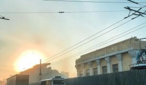 В центре Барнаула снесли часть стадиона «Локомотив».